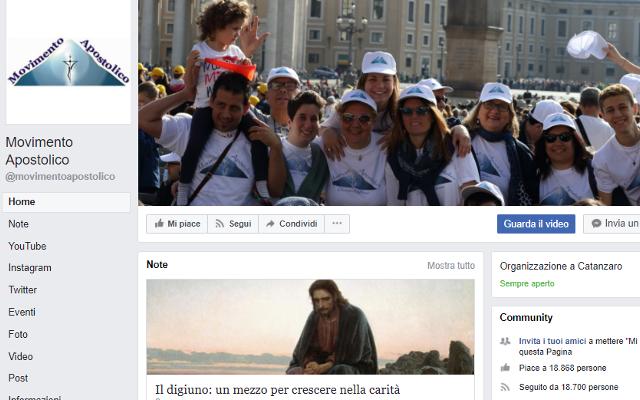 facebook movimento apostolico
