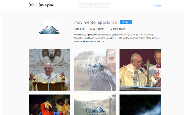 instagram movimento apostolico